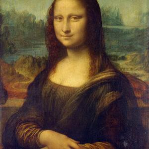 Print op hout, Mona Lisa