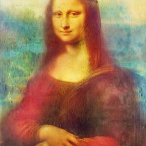 Print op hout, Mona Lisa Leonardo da Vinci