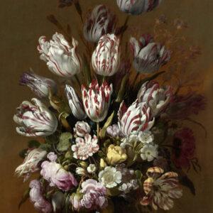 Print op hout, Stilleven met Bloemen Hans Bollongier Print op Hout